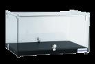 Exquisite CD35 One Tier Flat Glass Ambient Cake Display - Woodgrain Black