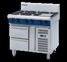 Blue Seal G516D-RB 6 Burner Gas Cooktop - Refrigerated Base